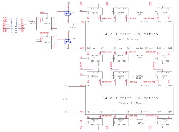 Led Matrix Schematics