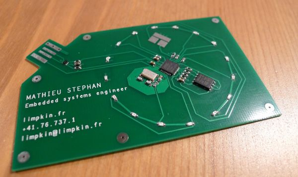 Business card bottom pcb