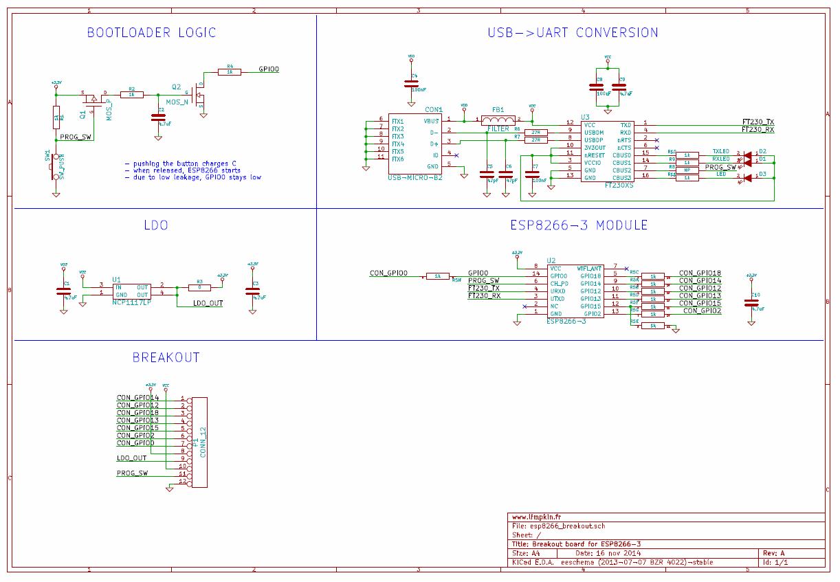 A Development Board For The Esp8266 03 Limpkins Blog November 2014 Line Circuit Dev Schematics