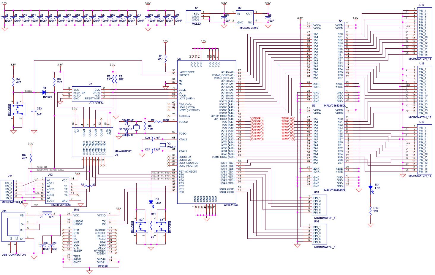 the fpslic matrix project limpkin s blog rh limpkin fr led tv board diagram led display board diagram