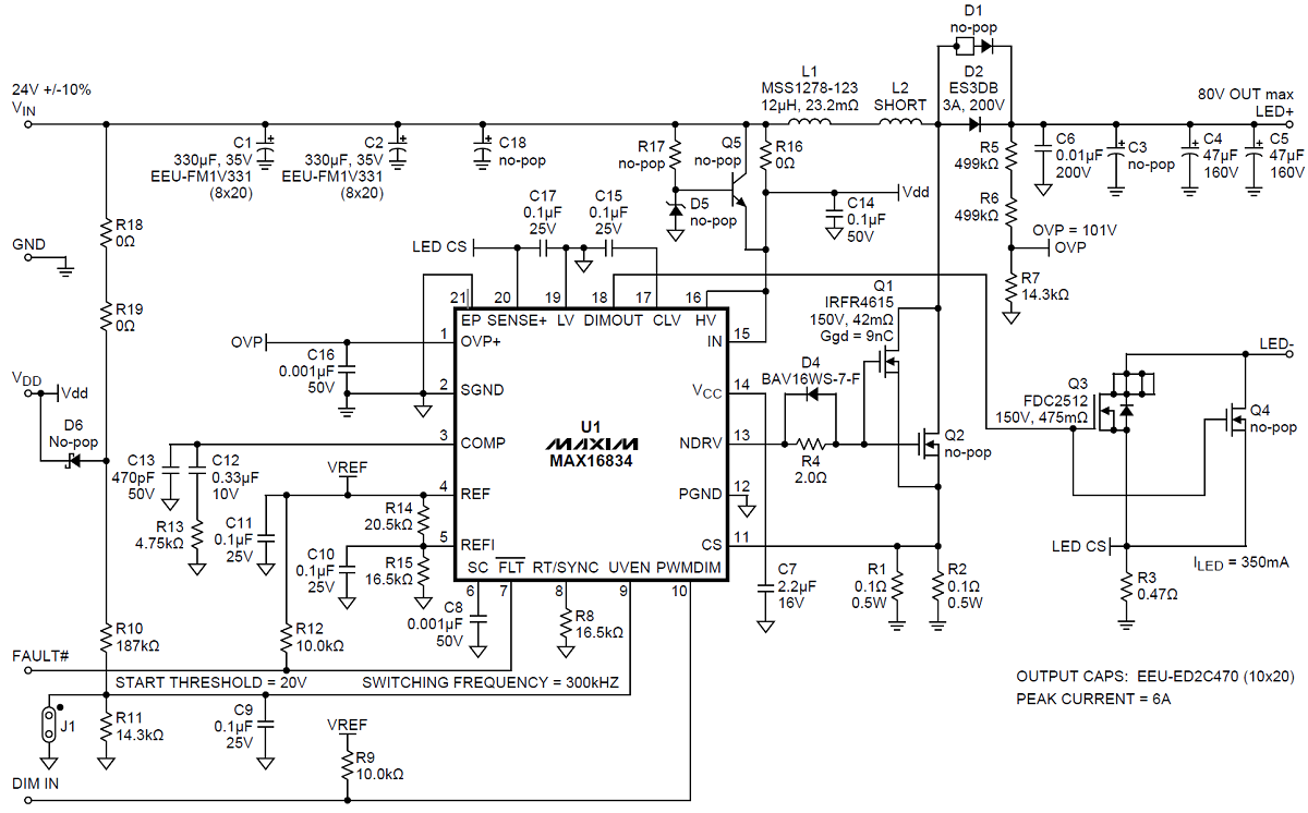 Current Controlled Boost Led Driver And Black Soldermasks Circuits Schematics For The Hobbyist Max16834