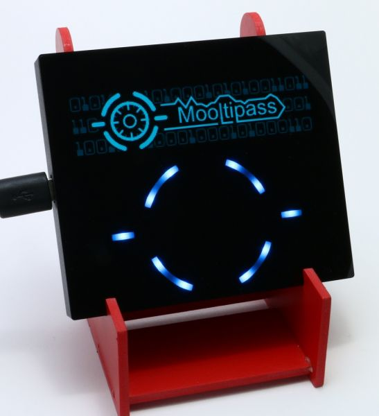 Mooltipass with holder